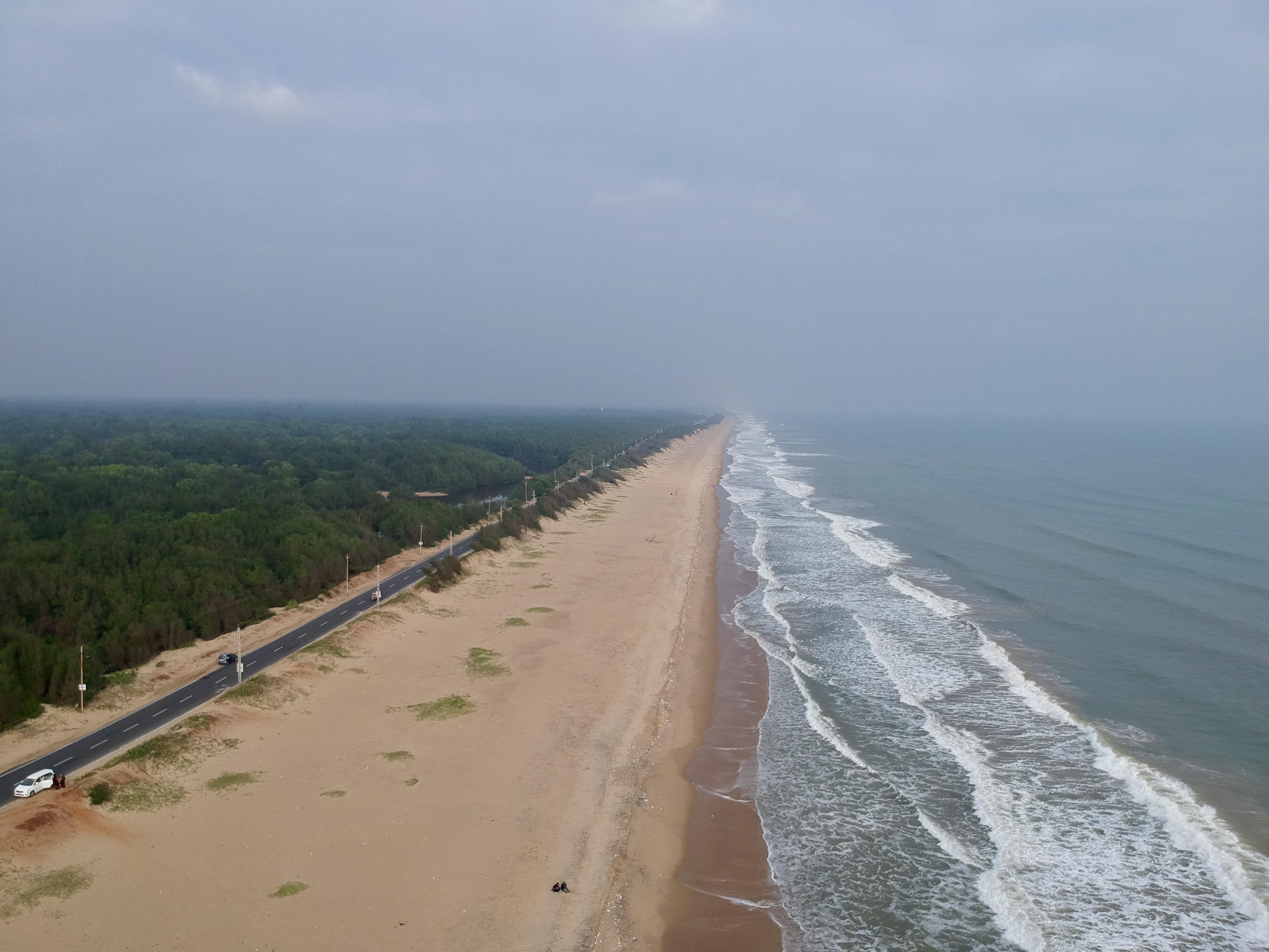Konark Marine Drive seen through a drine